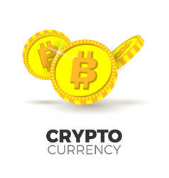 cryptocurrency concept vector image vector image