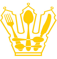 cutlery - Crown vector image vector image