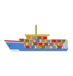 Delivery service company large cargo ship vector