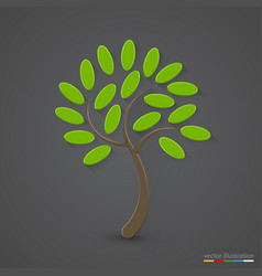 elegant tree silhouette nature concept vector image vector image