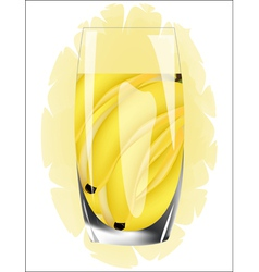 Fresh banana juice vector