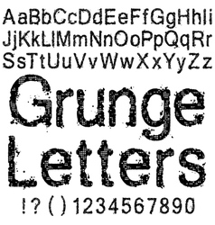 Grunge Letters and Numbers vector image vector image