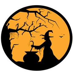 halloween button vector image vector image