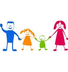 happy family cartoon illustra vector image
