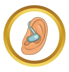 Hearing ear icon vector