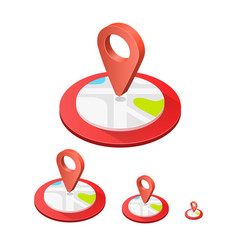 isometric icon location sign vector image vector image