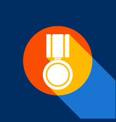 Medal sign white icon on vector