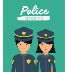 officer profession design vector image