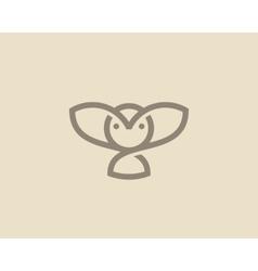 Owl logo design Linear bird creative vector image vector image