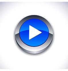 Play 3d button vector