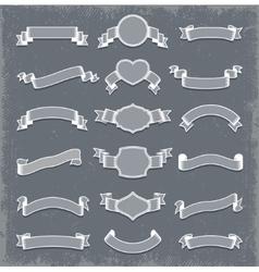 Ribbon Banners Design Set vector image