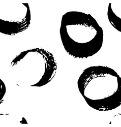 Seamless pattern with hand drawn grunge circles vector image vector image