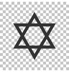 Shield magen david star symbol of israel dark vector