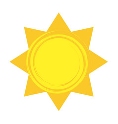 Shiny sun cool weather climate icon vector