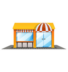 shop design painted in yellow vector image vector image