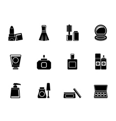 Silhouette Cosmetic Industry and beauty icons vector image vector image