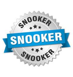 Snooker round isolated silver badge vector