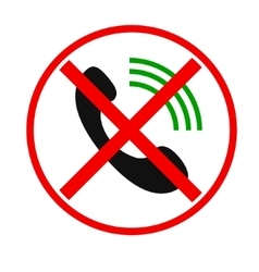 Telephone not allow sign vector