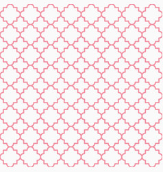 Traditional quatrefoil lattice pattern outline vector