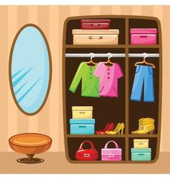 Wardrobe room vector image vector image