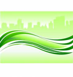 wave and city vector image vector image