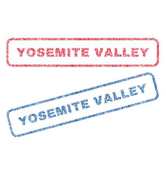 Yosemite valley textile stamps vector