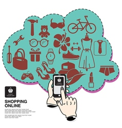 Sale shopping online vector