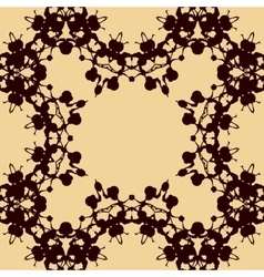 Print made of symmetrical blots vector