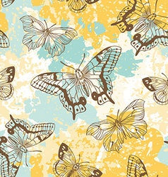 Artistic floral decorative pattern vector image