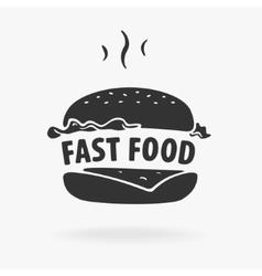 Symbol fast food hamburger vector