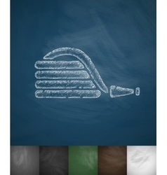 Rubber hose icon vector
