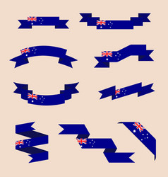 Ribbons or banners in colors of australian flag vector