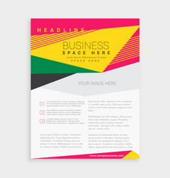 Abstract colorful geometric business brochure vector