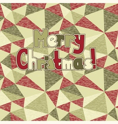 merry christmas on abstract seamless background vector image