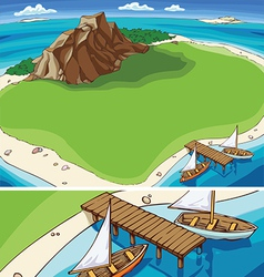 Small tropical island vector