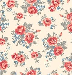 retro classical roses vector image