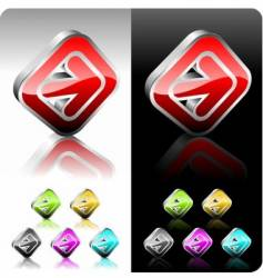 shiny color button set vector image