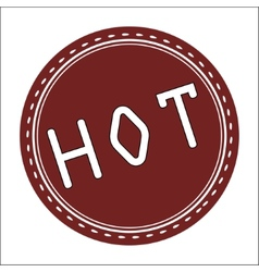 Hot icon badge label or sticke vector