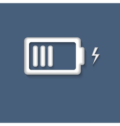 3d battery charging icon symbol vector