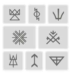 Icons with slavic pagan symbols vector