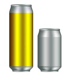 Realistic canisters vector