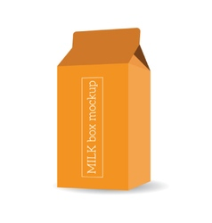 Package milk box template mock up vector