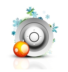 Christmas internet button vector