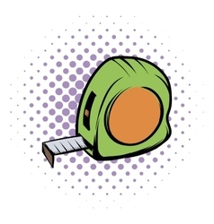Tape measure comics icon vector