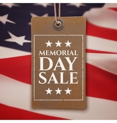 Memorial Day sale background vector image