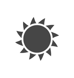 Sun icon light sunbeams gray design sign vector