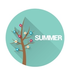 Flat summer sign or label abstract background vector