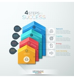 Arrow staircase diagram business step options vector