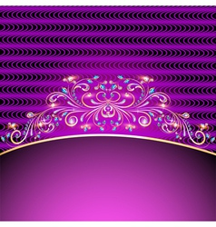 background with jewels golden ornament vector image vector image