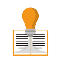 Book idea knowledge development vector